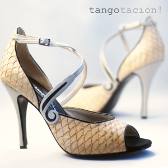 Firulete beige, eveningshoes by Tangotación!