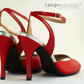 Bright red eveningshoes: 'la Yumba' by Tangotación!